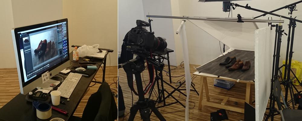 写真スタジオでの撮影