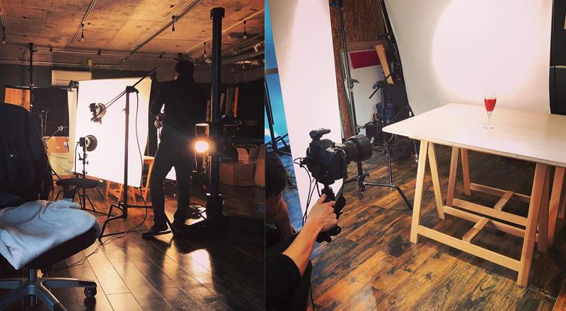 提携スタジオでの写真撮影